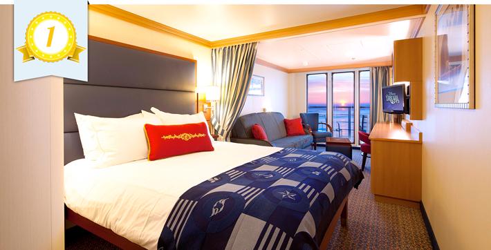 best cruise ship balcony cabin disney