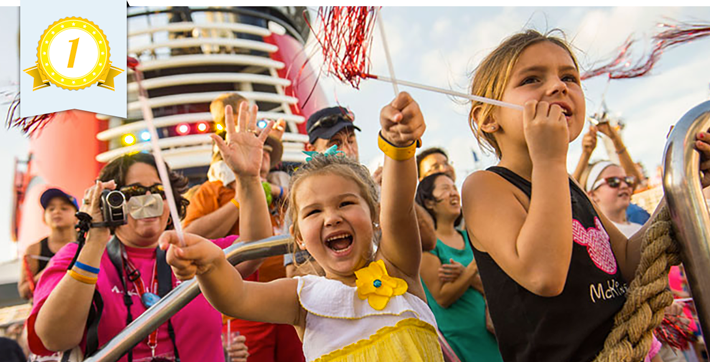 best line for families disney cruise