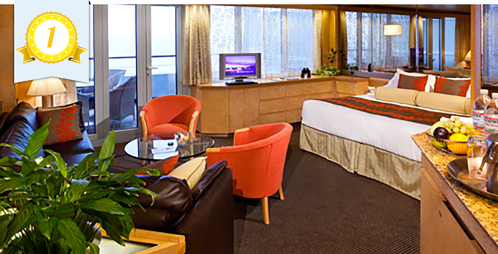 holland america best cruise ship suites