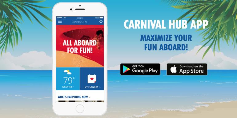 carnival hub app breeze tips