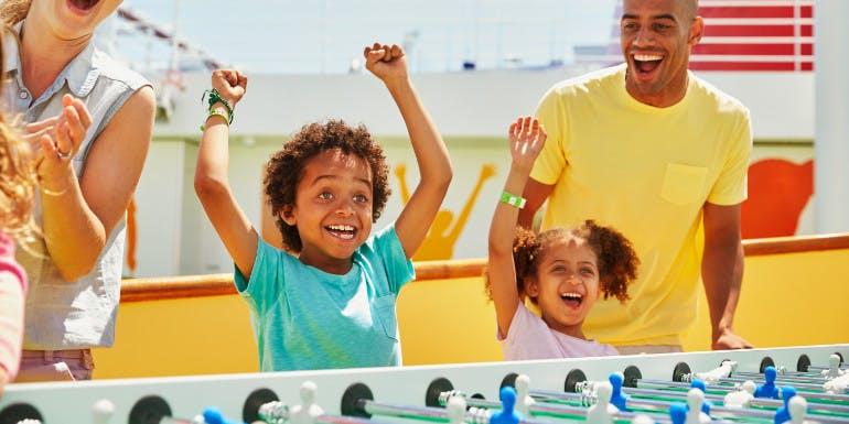 carnival vista family activity foosball cruise