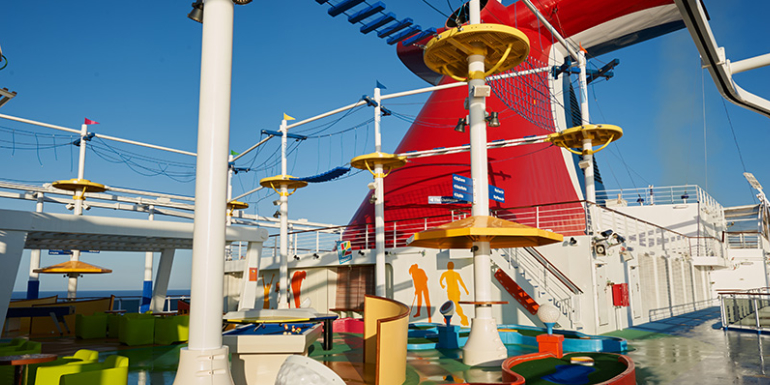 carnival vista cruise ropes course activities