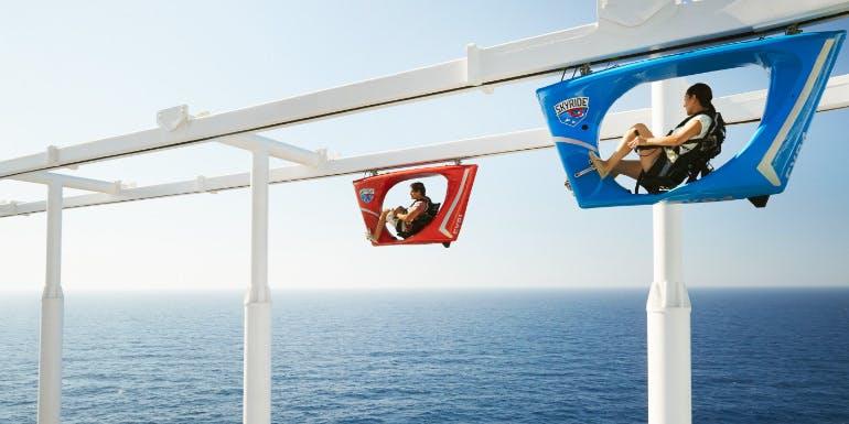 carnival vista skyride coaster cruise activites