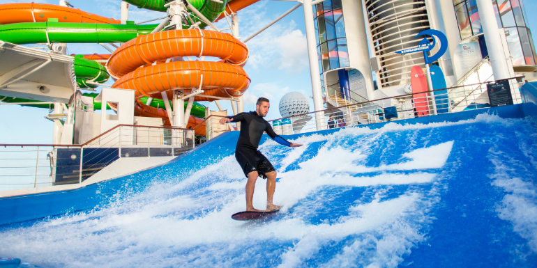 royal caribbean surfing flowrider compass newsletter