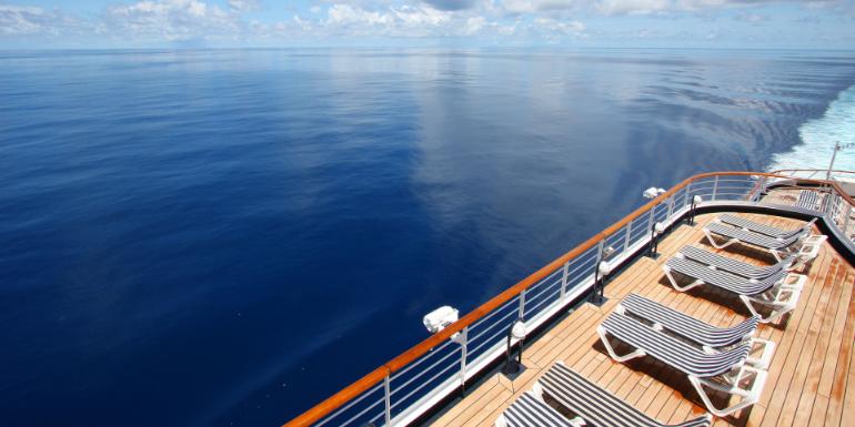 norwegian cruise ship deck lounger chair
