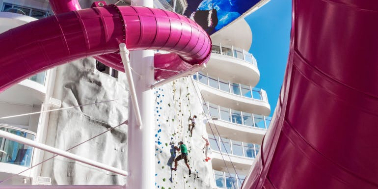 symphony of the seas royal caribbean rock wall ultimate abyss