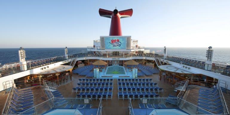 carnival sunshine tips lido deck pool