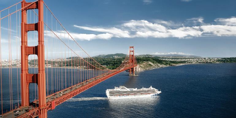 san francisco golden gate bridge princess cruise alaska