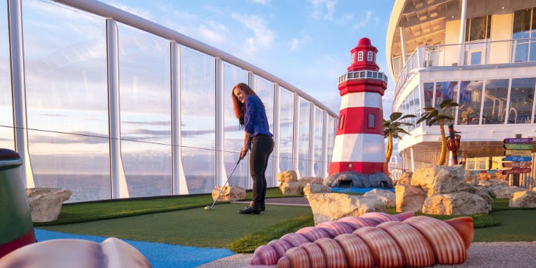 symphony mini golf putt putt activities cruise stress