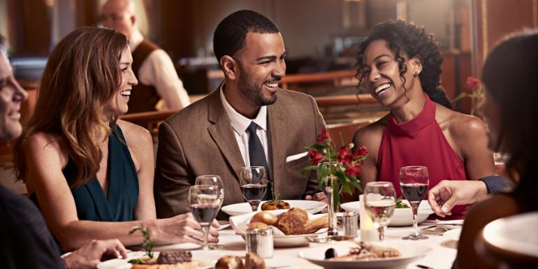 celebrity cruise main dining couple restaurant