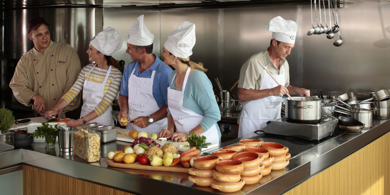 europe river cruise cooking class entertainment