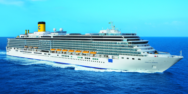 costa luminosa world long cruise ship exterior