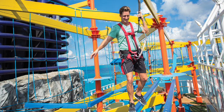 norweigan ropes course cruise workout