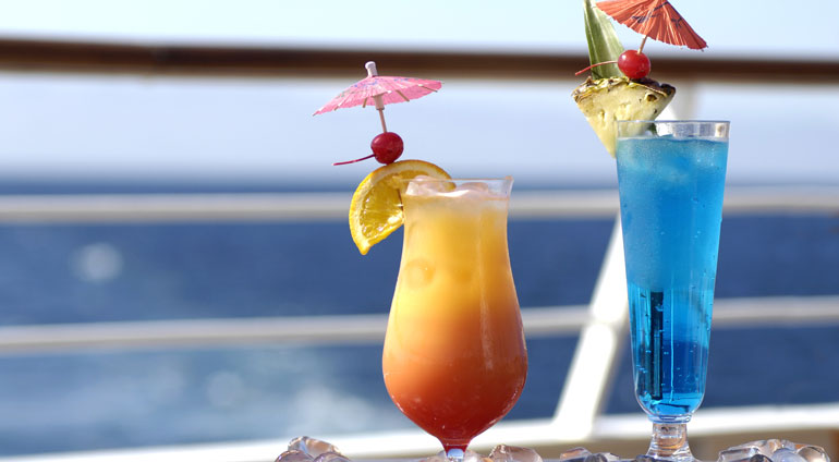 umbrella drink cruise ship tradition