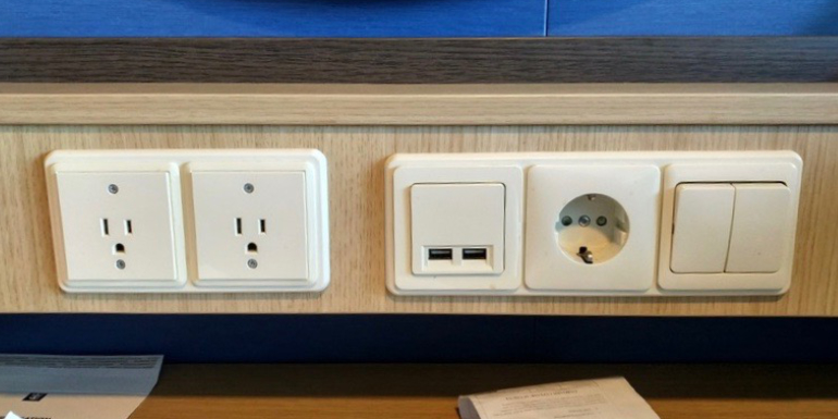 cruise cabin stateroom usb outlet plug
