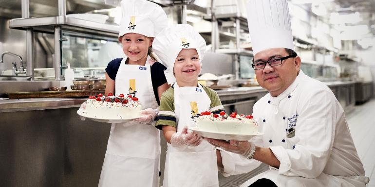 jr chef at sea kids cooking princess cruises