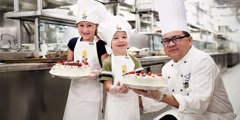 jr chef at sea kids cooking princess cruises