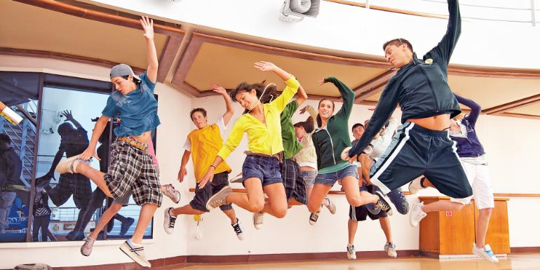 teenager teens dance class princess cruises