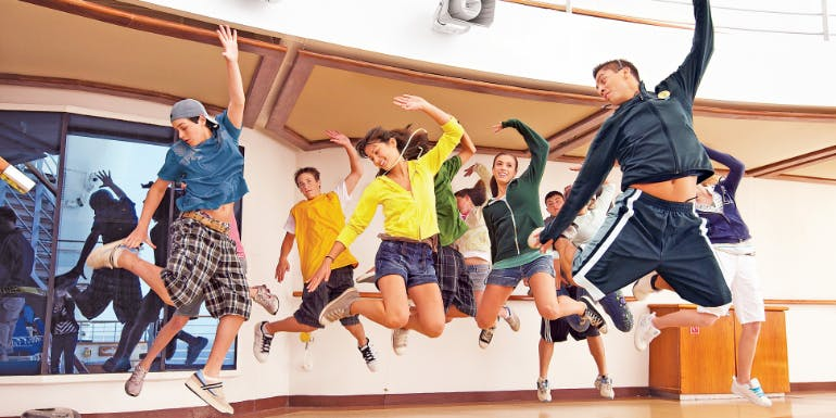 teenager teens dance class princess cruises