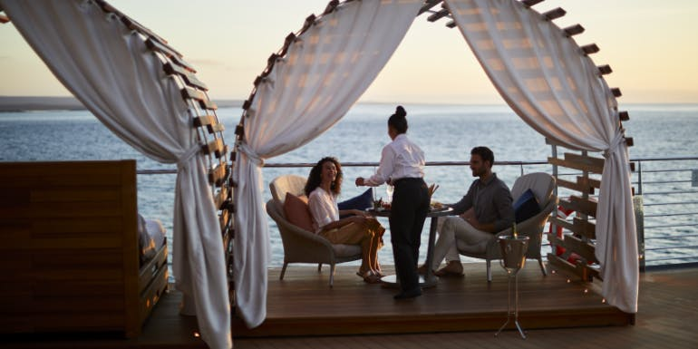 service crew celebrity cruises glamping dinner