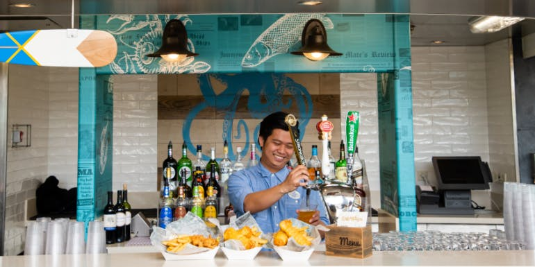 royal caribbean independence fish ships dining crew staff