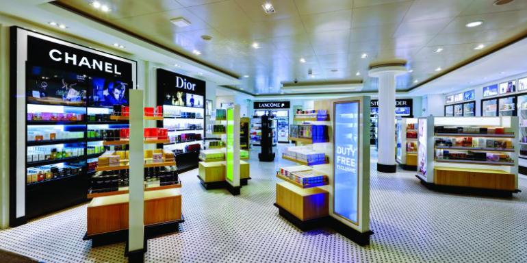 duty free shopping store cruise ship