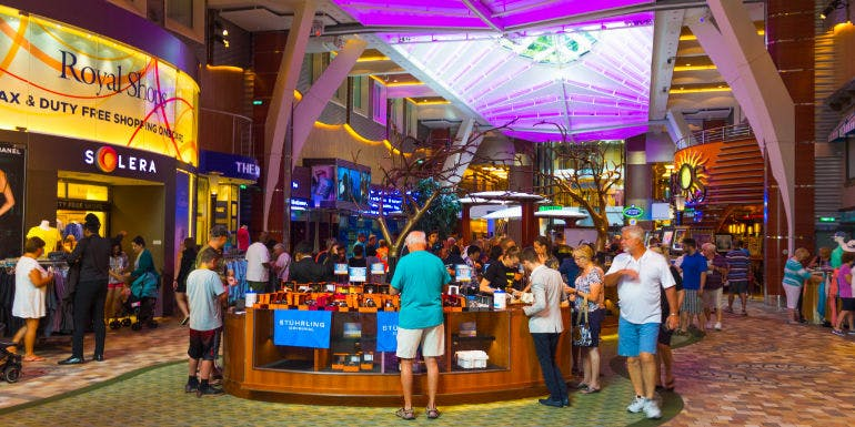 royal caribbean cruise ship store shopping