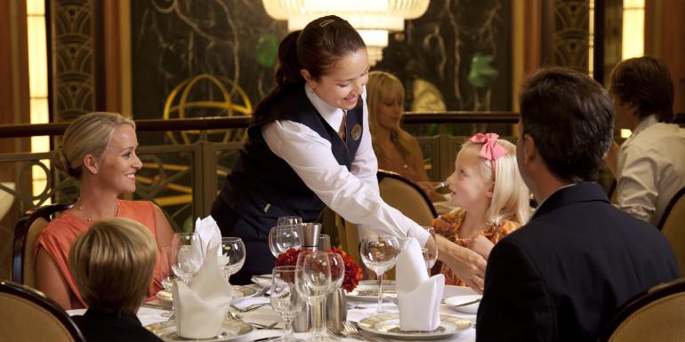 royal caribbean dining dinner family