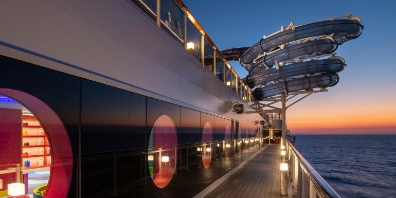msc cruise ship water slide