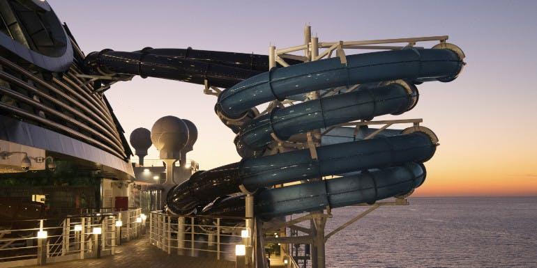 msc seaside cruise water park slide