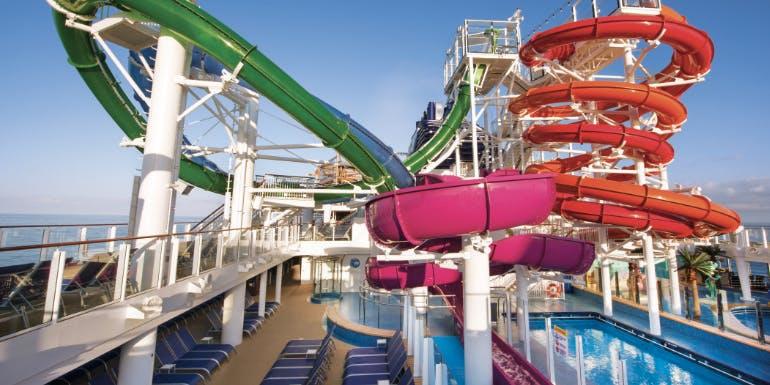 norwegian getaway cruise water park slide