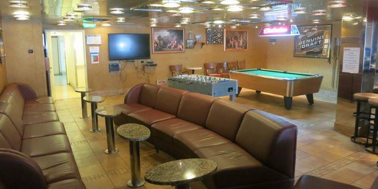 ob crew bar mess cruise ship existed