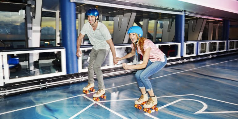 royal caribbean roller skating cruise ship