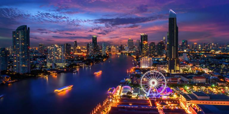 bangkok thailand asia luxury cruise skyline