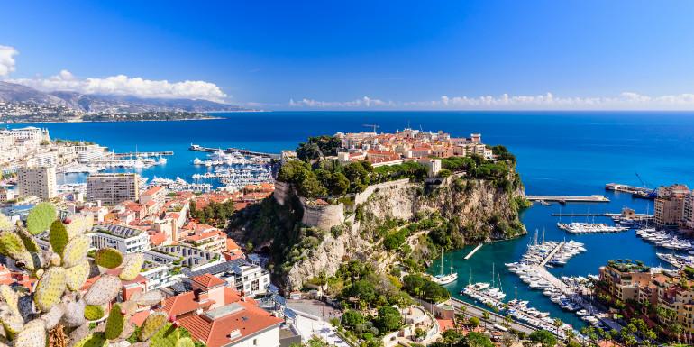 monte carlo monaco skyline harbor luxury