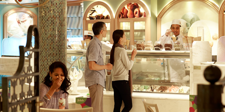 princes cruise ship ice cream gelato