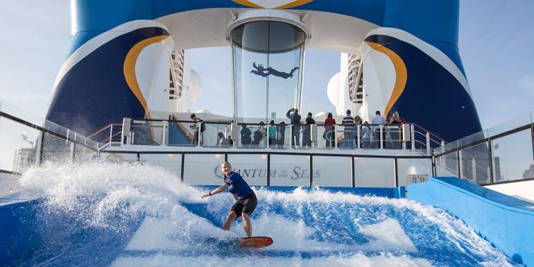 flowrider skydiving quantum of the seas