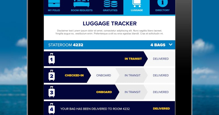 quantum of the seas luggage app