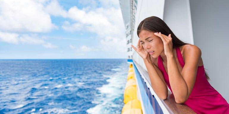 seasick seasickness nauseau cruise bad weather