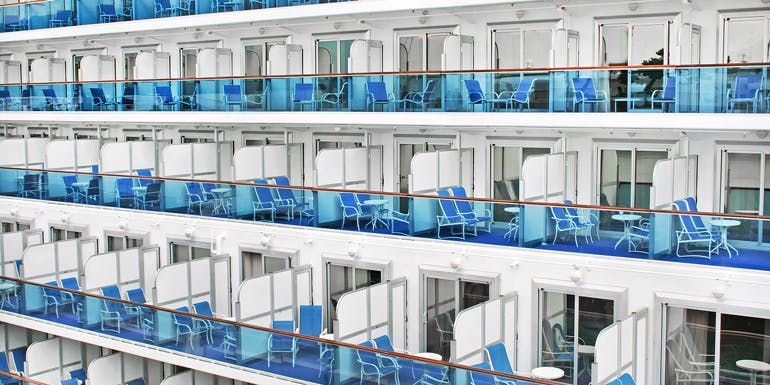 empty cruise ship cabins