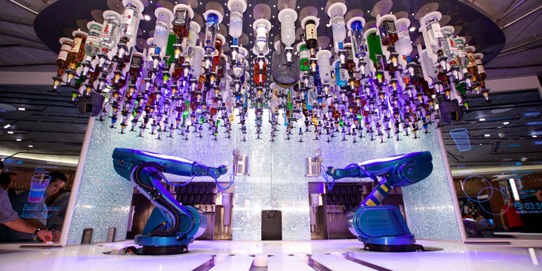 royal caribbean robot bartenders