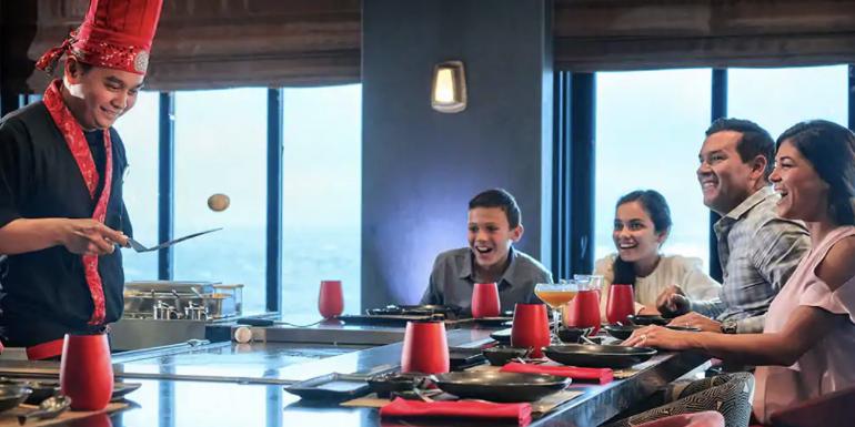 norwegian cruise teppanyaki hibachi dining food