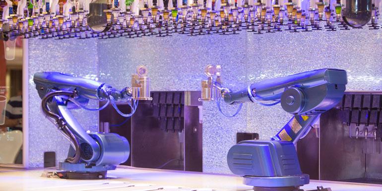 robot bartenders royal caribbean