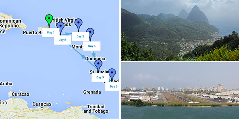 southern caribbean cruise itinerary