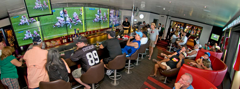 This sports bar is sponsored by __________?