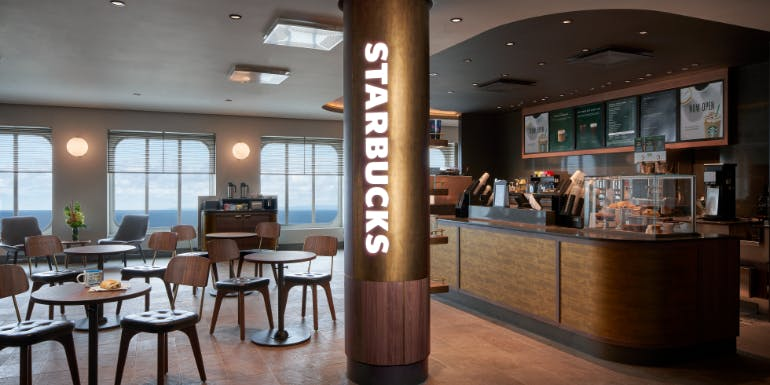norwegian joy starbucks coffee shop