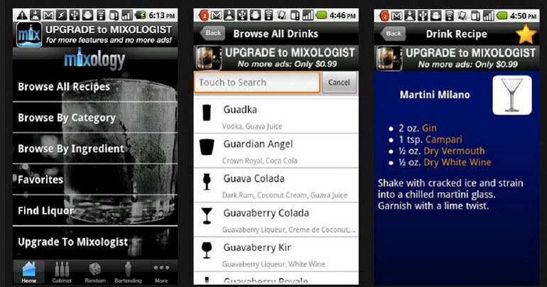 mixology app cruise cocktail