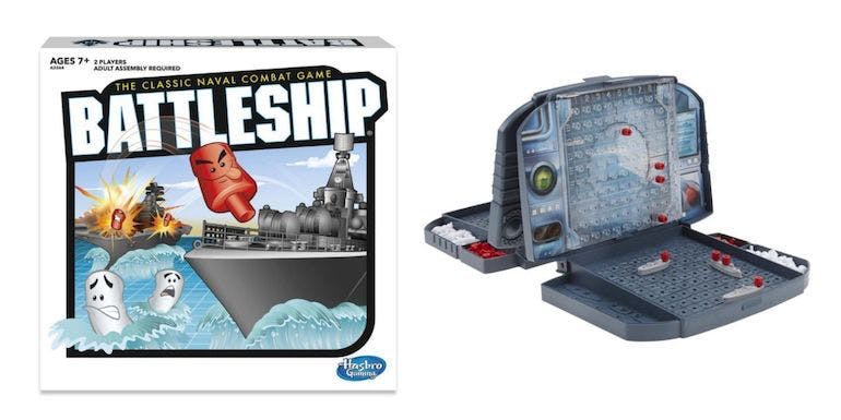 hasbro battleship family game night