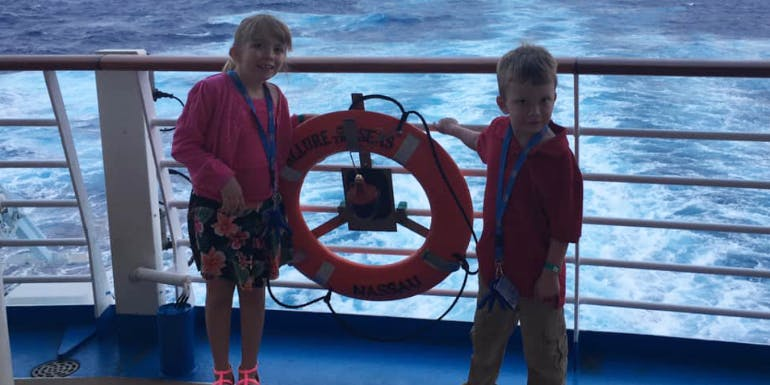 allure of the seas kids family cruise aft