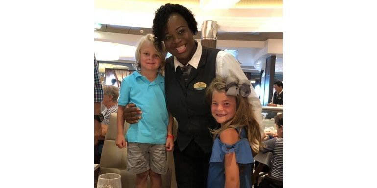 harmony of the seas dinner dining staff family cruise